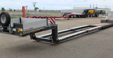 Extra-low bed loader 2 axles. Pendular GRS2