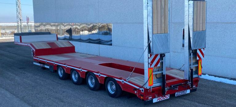 Góndola Porta-máquinas GP4 Rojo Trailer.